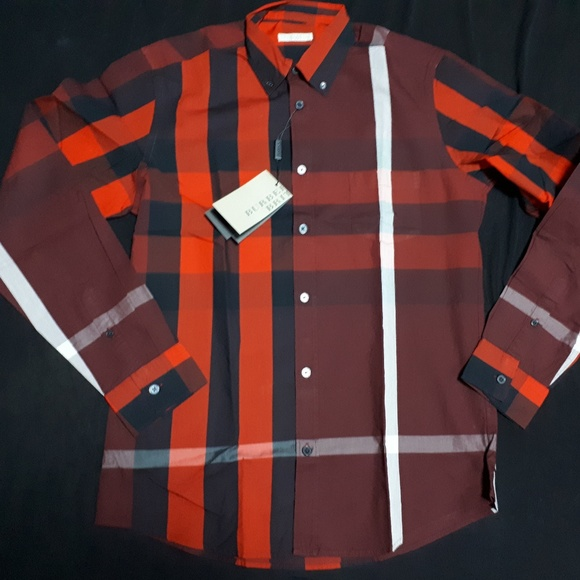 da2d0564 BURBERRY BRIT Shirts | Mens Casual Oxblood Shirt | Poshmark
